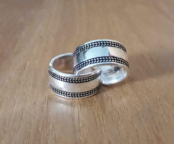 anillo ancho plata de ley